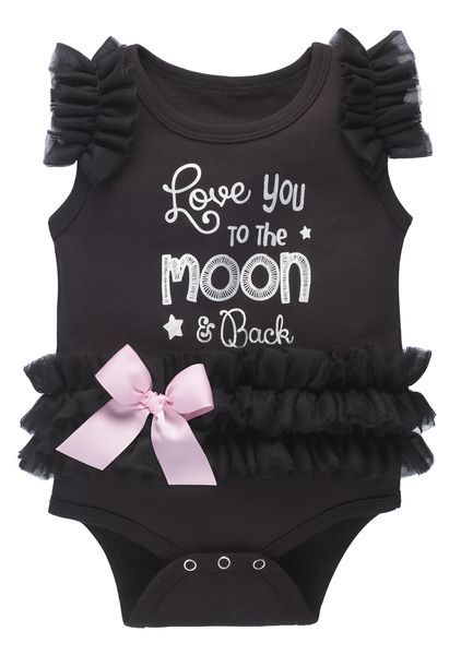 Baby Ganz Diaper Shirt Tutu - Love you to the Moon and Back 12-18 Mos