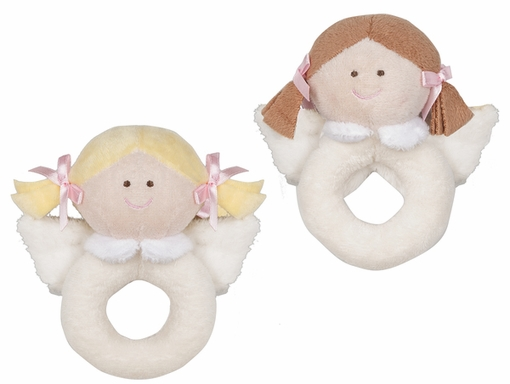Baby Ganz Heaven Sent Plush Angel Ring Rattle