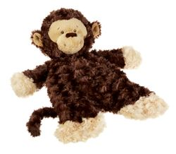Baby Ganz Flat-a-Pat Monkey Blanket - Dark Brown