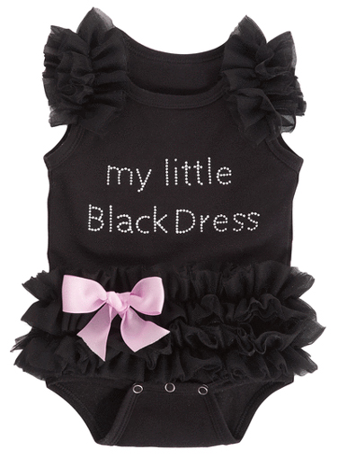 Baby Ganz My Little Black Dress Diaper Shirt 0-6 Months