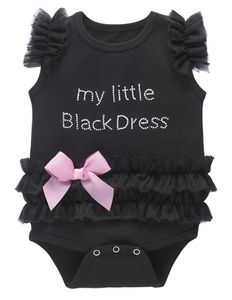 Baby Ganz My Little Black Dress Diaper Shirt - 6-12 Months