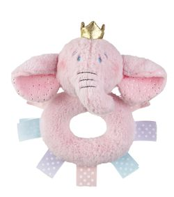 Baby Ganz Princess Elephant Plush Rattle