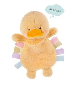 Baby Ganz Wuzzies Crinkles Ducky 11""