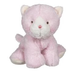 Baby Ganz Wuzzies Pink Kitten Plush Toy 8""