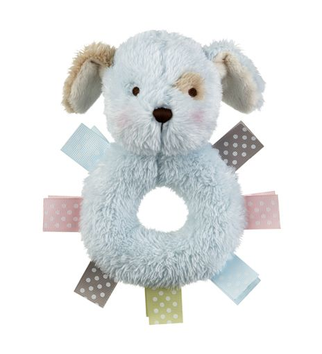 Baby Ganz Wuzzies Rattle - Blue Puppy