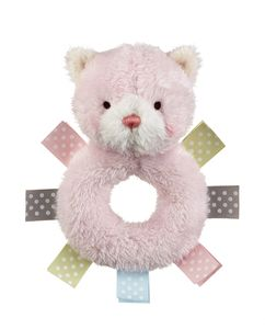 Baby Ganz Wuzzies Rattle - Pink Kitten