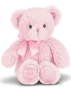 """Bearington Baby Collection - Baby's First Bear - Pink 12"""""""