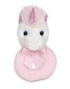 Bearington Baby Dreamer Unicorn Plush Ring Rattle