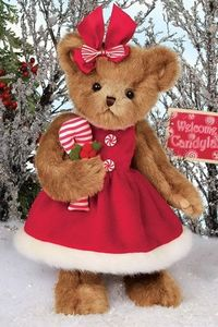 Bearington Bears Christa Cane Christmas Bear 14""