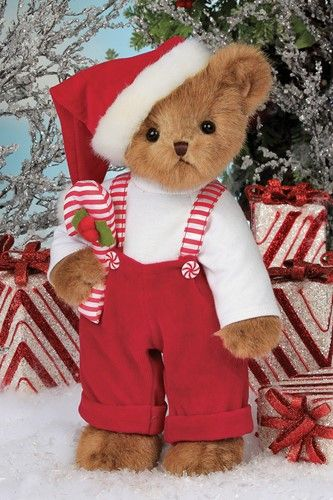 Bearington Bears Christopher Cane Christmas Bear 14""