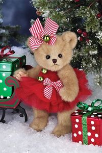 Bearington Bears Jenny Jingles Christmas Bear 10""