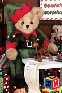 Bearington Bears Jingle Toes the Elf Bear 14""