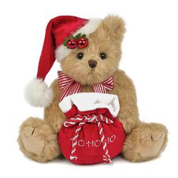 Bearington Bears Jolly Jingles the Santa Bear 10""
