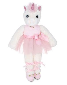 Bearington Collection Dreamer Ballerina Unicorn Plush 14""