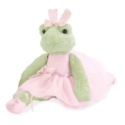 Bearington Collection Juliette Pirouette Ballerina Frog 15""