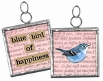 Primitives by Kathy Pendant Charm - Blue Bird of Happiness