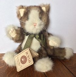 Boyds Bears Felina Purrsley Plush Cat 8""