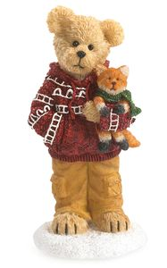 Boyds Bears Holiday Goodfriends Cooper with Sly Fox Figurine
