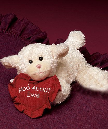 "Boyds Bears Luv Ewe Valentine Lamb ""Mad About Ewe"" Plush"
