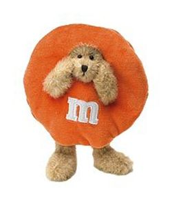 Boyds Bears M&M's Orange O. M. Peeker Bear
