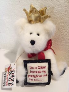 "Boyds Bears Queenie 8"" Razz-Beary Bear"