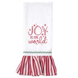 Brownlow Farmhouse Kitchen Christmas Tea Towels - Joy To The World