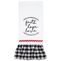 Brownlow Farmhouse Kitchen Tea Towels - Faith Hope Love