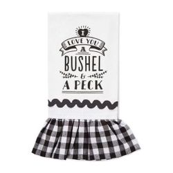 Brownlow Farmhouse Kitchen Tea Towels - I Love You a Bushel and a Peck