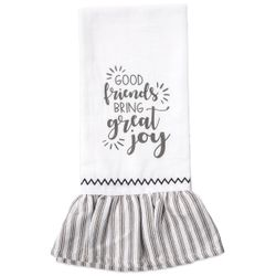 Brownlow Farmhouse Kitchen Tea Towels - Good Friends Bring Great Joy