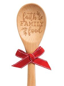 Brownlow Sentiment Wooden Kitchen Spoons - Faith Family Food