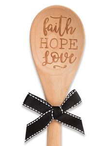 Brownlow Sentiment Wooden Spoons - Faith Hope Love