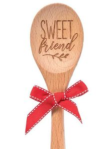 Brownlow Sentiment Wooden Spoons - Sweet Friend