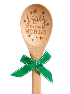 Brownlow Sentiment Wooden Spoons - Joy To The World