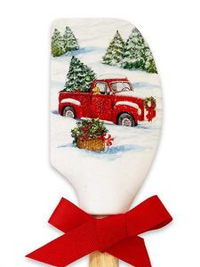 Brownlow Silicone Christmas Spatulas - Red Truck