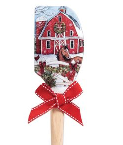 Brownlow Silicone Kitchen Christmas Spatulas  - Barn With Horse