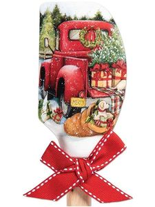 Brownlow Silicone Kitchen Christmas Spatulas - Red Truck