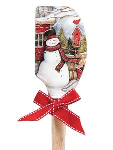 Brownlow Silicone Kitchen Christmas Spatulas - Snowman