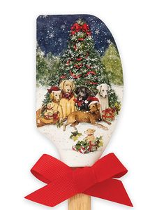 Brownlow Silicone Kitchen Spatulas  -  Christmas Dogs