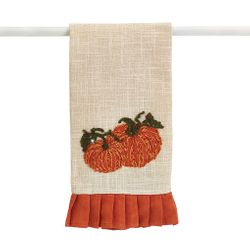 Burton and Burton Linen Tea Towel with Pumpkins