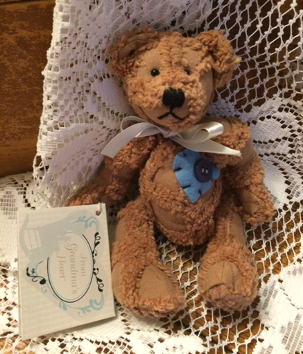 Chenille Teddy Bear from Grandma's Heart 5""
