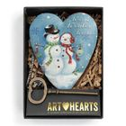 DEMDACO Art Hearts - Snow Couple - Warm Winter Wishes