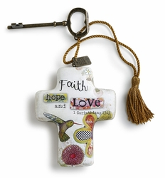 DEMDACO Artful Crosses - Faith Hope Love
