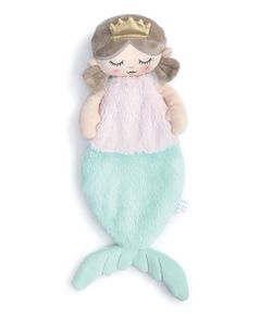 DEMDACO Baby Big Waves Mermaid PrincessBlankie 16""