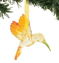 Enesco Dept 56 XMBAR Acrylic Hummingbird Ornament - Happy Heart - Yellow