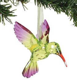 Enesco Dept 56 XMBAR Acrylic Hummingbird Ornament - Happy Heart - Green