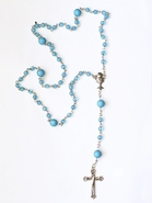 First Holy Communion Rosary Beads - Blue