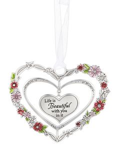 Ganz 3D Ornaments - Life is Beautiful with you in it