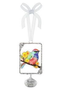Ganz Bird Ornaments - Thankful, Grateful, Blessed