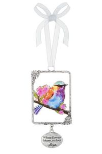 Ganz Bird Ornaments - Where flowers bloom, so does Hope