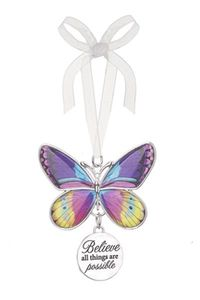 Ganz Blissful Journey Butterfly Ornament - Believe all things